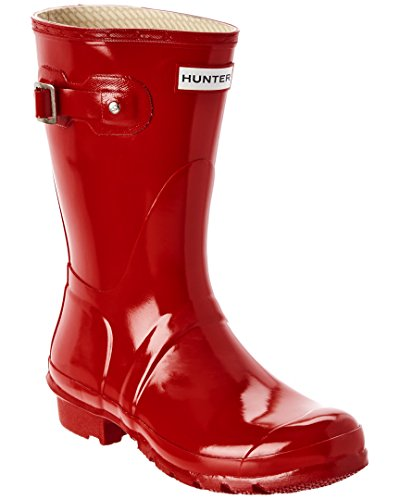 Hunter Women's Original Short Gloss Boot, 5, Red by Hunter