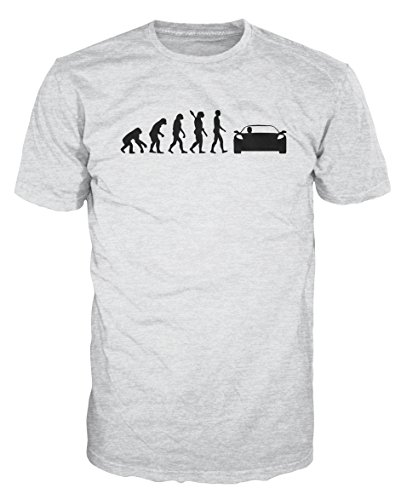 Dalesbury Race Driver Evolution Funny T-Shirt (L, Ash Grey) - Evolution Ash Grey T-shirt