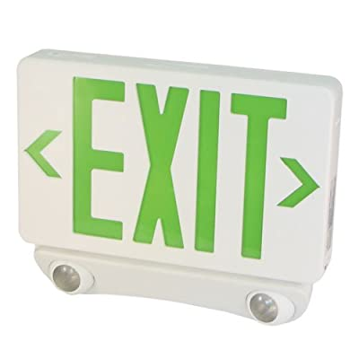 Elco Lighting EE86HG LED Exit Sign and Emergency LED Light Combo