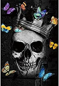 tableau tête de mort papillon 1