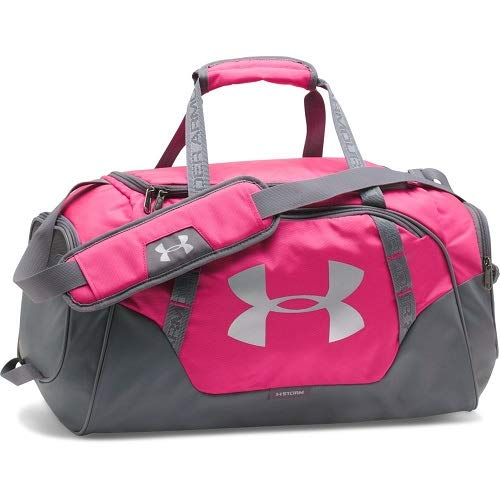 Under Armour Undeniable Duffle 3.0 Gym Bag, Tropic Pink /Silver, X-Small