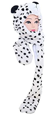 Varied Animal Hat Gloves Scarf 3 In 1 Set -Costume Hood Toy