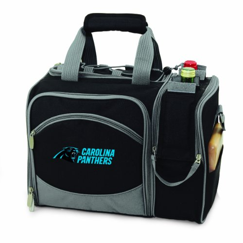 - PICNIC TIME NFL Carolina Panthers Malibu Insulated Shoulder Pack with Deluxe Picnic Service for Two