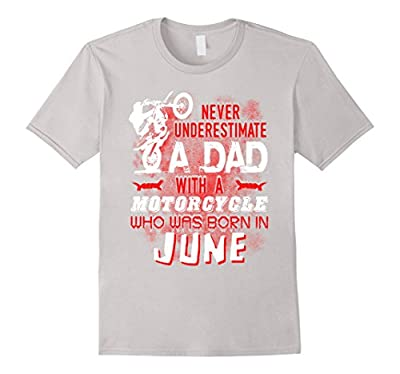 Funny Motorcycle T Shirt June Birthday Tshirt For Men Dad