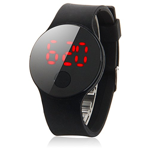 Chonlakrit New Fashion Men Women's Date Waterproof LED Digital Leather Quartz Wrist (Smoky Tourmaline Ring)