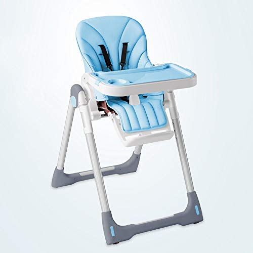 Ping Bu Qing Yun Baby high Chair - Edible PP Material, high Strength Stainless Steel Material, 0-4 Years Old Baby Four Seasons Universal Portable Folding Multi-Grade Adjustment with Storage dinette -
