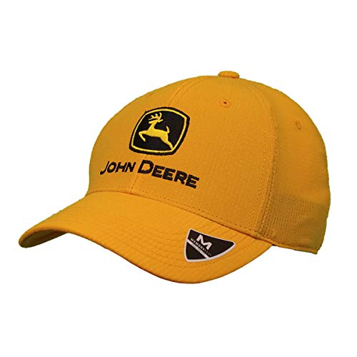 John Deere Memory Fit - Con Yellow Cap-Yellow-Os (Made John Deere In)