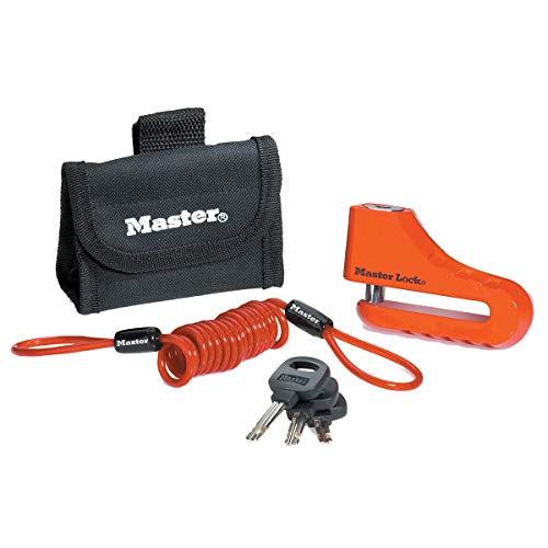 Master Lock 8304EURDPS Schijfremslot Motorfiets, 10 cm Schijfrem, Stalen beugel