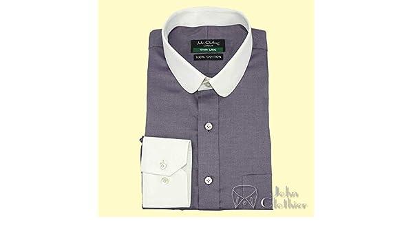Camisa Hombre Cuello Penny Banqueros Redondo Lila Oscuro Oficina Club Hombre Individual Vuelta 200-31 - Lila Oscuro, 15: Amazon.es: Ropa y accesorios