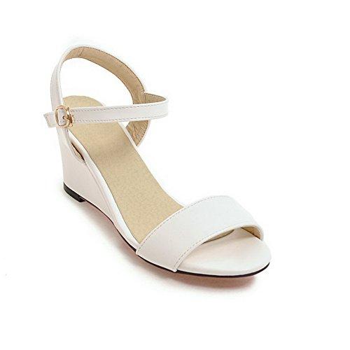 BalaMasa Womens Sandals Mid-Heel Huarache Urethane Sandals ASL04860 White kx43xWxn