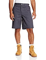 "Dickies Occupational Workwear Lr642dc 34 Polyester Cotton Relaxed Fit Men's Premium Industrial Multi-use Pocket Short With Hidden Snap Closure, 34"" Waist Size, 11"" Inseam, Dark Charcoal"