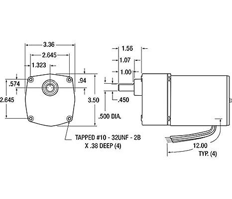 Dayton 4Z613 Gear Motor, AC, 154 RPM: Electric Fan Motors ... on