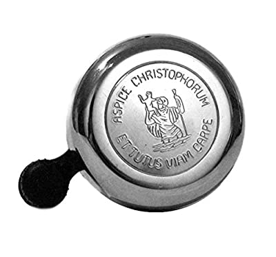 Widek Classic Bicycle Bell - St. Christopher - Chrome - Made in Holland from Widek