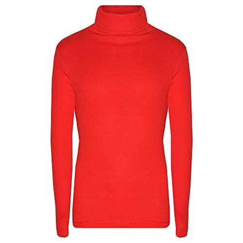 A2Z 4 Kids/® Kids Girls Polo Neck T Shirt Ribbed Cotton Polo ROLL Neck Jumper Long Sleeve TOP Age 2-13 YAERS