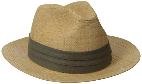 [Tommy Bahama Men's Safari Raffia Hat, Natural, Large/X-Large] (Straw Safari Hat)