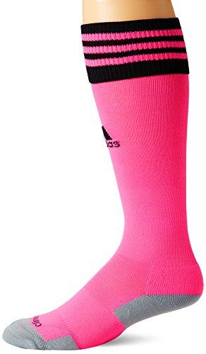 adidas Copa Zone Cushion II Soccer Socks (1-Pack), Ultra Pop/Black, Small