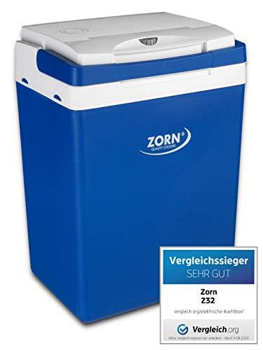 41agSSm9AHL Zorn® Z32 I Elektrische Kühlbox I Kapazität 30 L I 12/230 V für Auto, Boot, LKW, Balkon und Steckdose