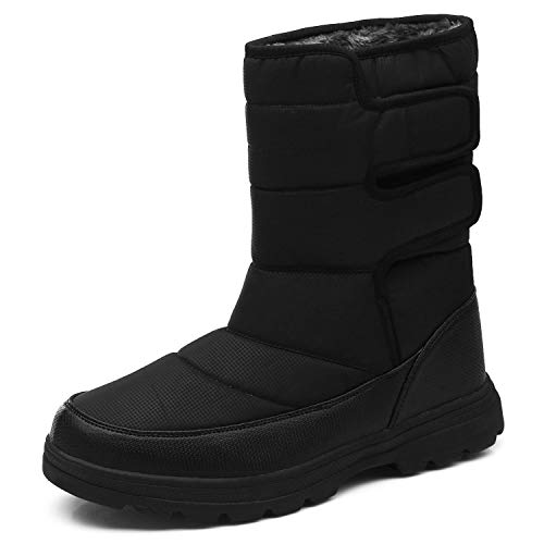 YIRUIYA Waterproof Mens Snow Winter Boots Shoes Warm Lining Boots