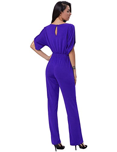 3af6b8a7a26 GRACE KARIN Women s Sexy Short Sleeve Cocktail One Piece Jumpsuit Romper