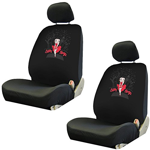 Betty Boop New York City Skyline Car Truck SUV Low Back Front Bucket Seat Covers - PAIR