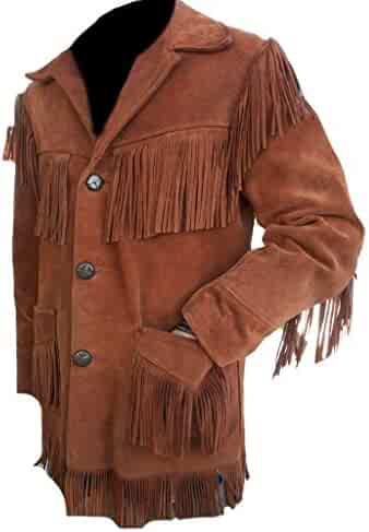 Stormwise Mens Fashion Suede Leather Coat