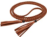 Nanxson Women's Faux leather Waist Chain/Rope/Belt with Tassel PDW0043 camel