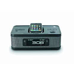 Memorex MI4703P 30-pin Dual Alarm Clock Radio for iPod and iPhone (Black)