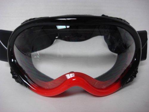 Youth Motocross ATV Dirt Bike Off-road Racing MX Goggles Black/Red 2 Tone Color Honda