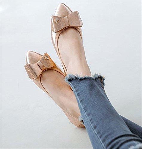 Foldable Flats Size Autumn Soft Shoes Women Big Gold Womens Ladies for Ballerina Flat Casual Shoes q8XztWvt