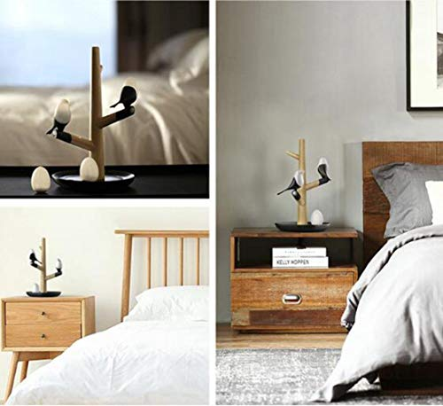 OVIIVO Creative Table Lamp Desk Lamp Magnetic Bedside Wooden Magpie Led Light USB Rechargeable Human Motion Smart Sensor Optically Controlled Nightlight 2 Levels Dimmer, Using for Reading, Worki by OVIIVO (Image #6)