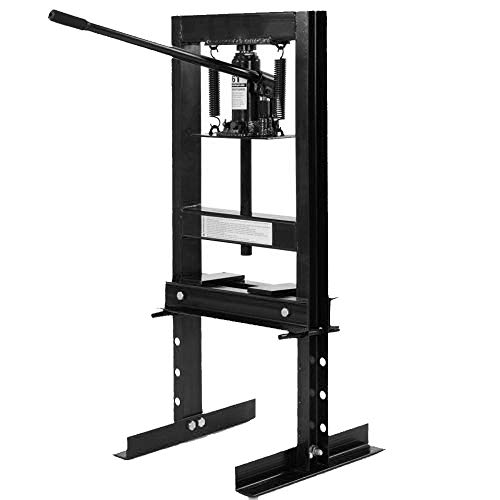 Wimmer 6 Ton Shop Press Floor H-Frame Press Plates Hydraulic Equipment Jack Stand 8″
