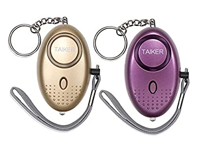 Taiker Personal Alarm for Women, 140DB Emergency Self-Defense Security Alarm Keychain with LED Light for Women Kids and Elders