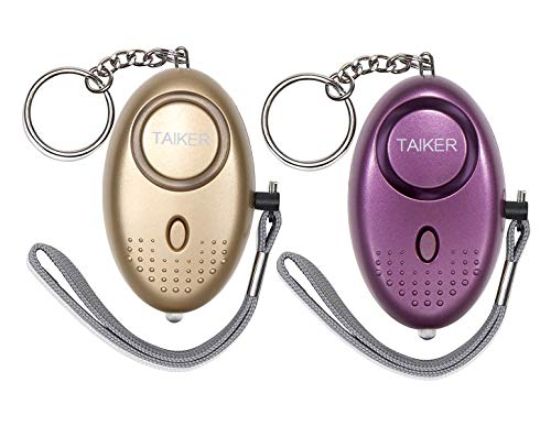 Personal Alarm for Women 140DB Emergency Self-Defense Security Alarm Keychain with LED Light for Women Kids and Elders-2 Pack ()
