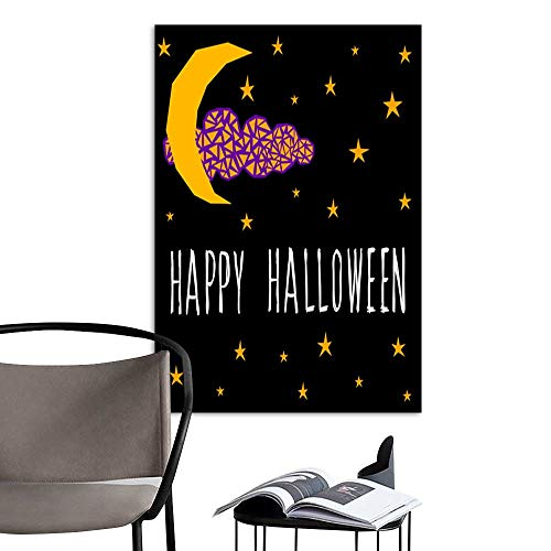 Canvas Wall Art Painting Happy halloween card template Abstract halloween pattern for design card party invitation poster album menu t shirt bag print etc 9.jpg Nature Canvas Artwork Home Office Wal ()