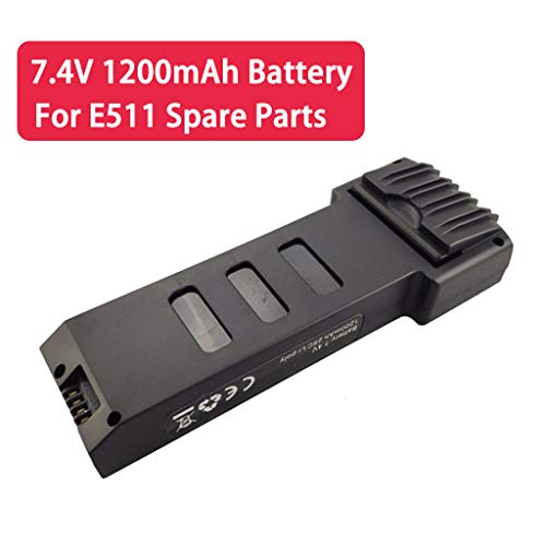 LLJEkieee 7.4V 1200mah Lithium Battery RC Battery for E511 E511S Folding Quadcopter Spare Parts