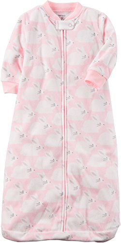 Carter's Baby Girls' Bunny Print Sleep Bag, Pink, (Bunny Sleeper)