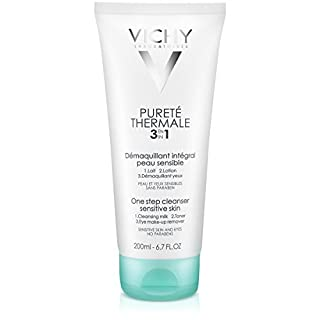 Vichy Pureté Thermale One Step Cleanser for Sensitive Skin, 6.7 Fl Oz