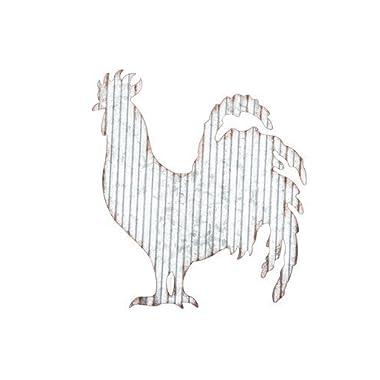 Corrugated Metal Rooster Wall Farmhouse or Farm Decor