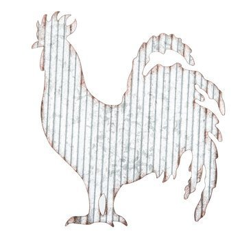 Corrugated Metal Rooster Wall Farmhouse or Farm Decor