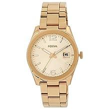 Fossil Women's ES3587 Perfect Boyfriend Three-Hand Date Stainless Steel Watch-Rose Gold-Tone
