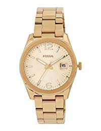 Fossil Women's ES3587 Perfect Boyfriend Three-Hand Date Stainless Steel Watch-Rose Gold-Tone