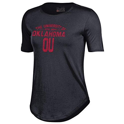NCAA Oklahoma Sooners Women's 60 40 Tee, Black, Small