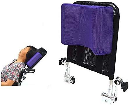 Reposacabezas De Silla De Ruedas Soporte De Cuello Cabeza Acolchado Ajustable para Adultos,Purple
