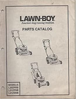 1990 LAWN-BOY BACK- BEHIND LAWN MOWER PARTS MANUAL P/N ... on small engine diagram, briggs and stratton diagram, echo diagram,