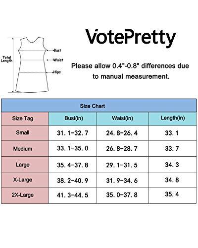 VOTEPRETTY Women's V-Neck Spaghetti Strap Dress Summer Casual Swing Sundress with Pockets 6