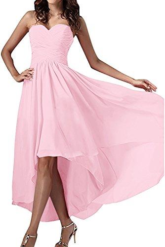 Einfach Abendkleider Damen Ivydressing Herzform Rosa Chiffon Festkleid Partykleid Ballkleid 1Uvgxgw5q