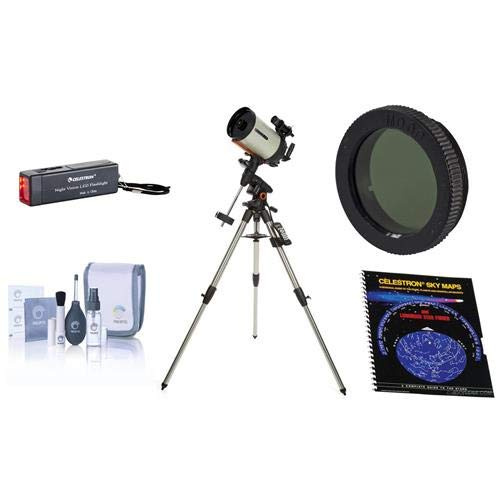 Celestron Advanced VX 8インチ エッジHD望遠鏡 アクセサリーキット付き ナイトビジョンフラッシュライト スカイマップ ムーンフィルター 光学クリーニングキット   B07KZM4WW8