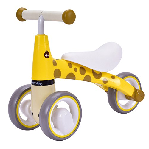 Honey Joy Baby Balance Bike, No-Pedal Toddler Trike, Learning Walker Trainer for Kids 1-3 Years Old (Yellow)