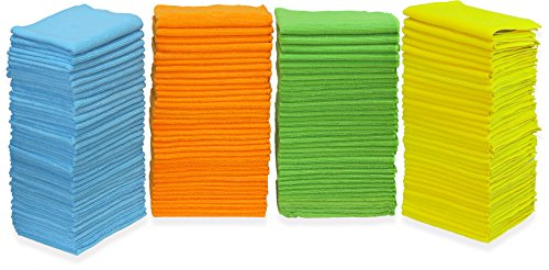 150 Pack - SimpleHouseware Microfiber Cleaning Cloth, 4 Colors (The Best Cleaning Company)