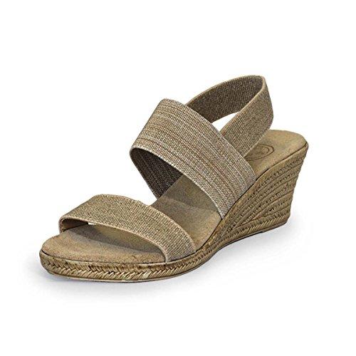 Cooper Sling-Back Espadrille Wedge Sandal - Linen - Size 8 - by Charleston Shoe (Linen Slingback)